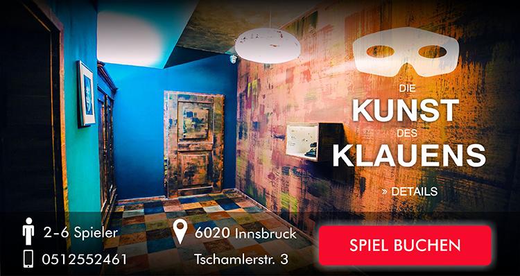 Escape Room Innsbruck - Die Kunst des Klauens