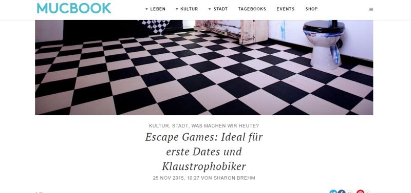 Escape Games München Referenz von MUCBOOK