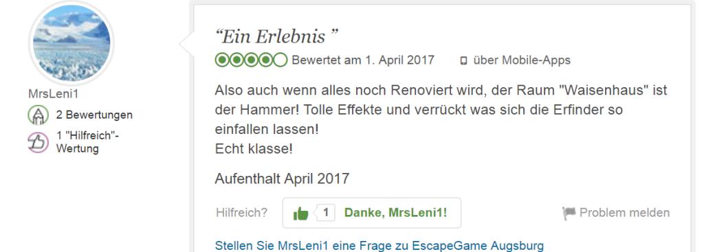 Erlebnis Geschenk Exit Game