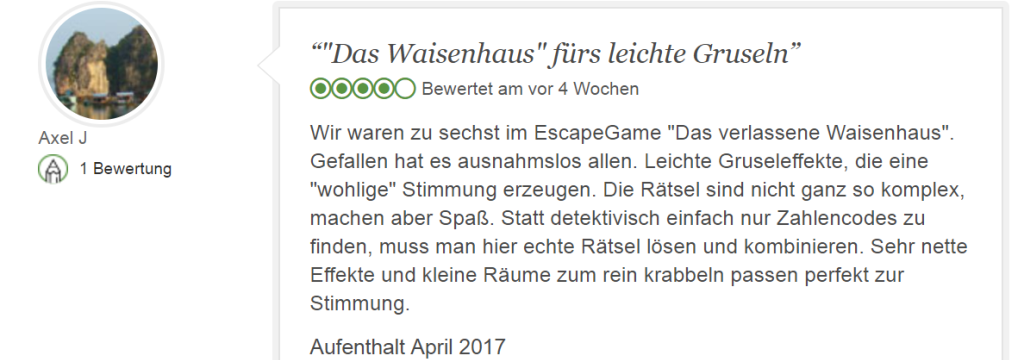 Gruseliges Escape Game