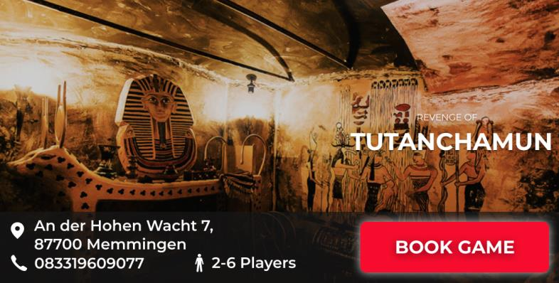 escape game Memmingen Revenche of tutanchamun