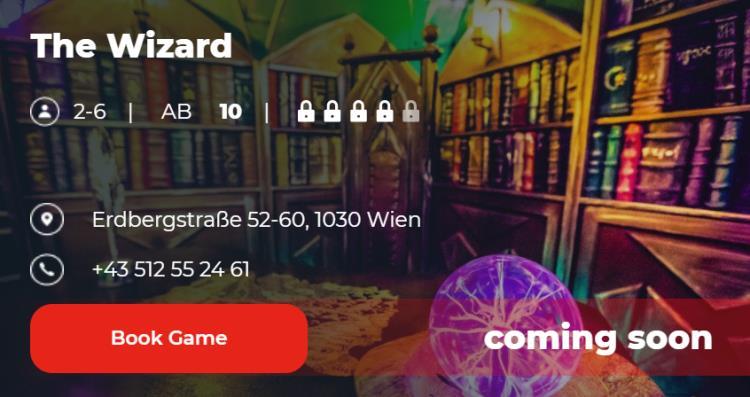 The Wizard Escape Game Vienna