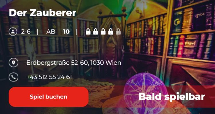 der Zauberer escape game Wien